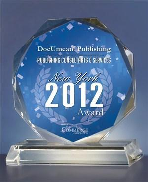 Publishing Award Consumers Choice New York 2012 given to DocUmeant Publishing