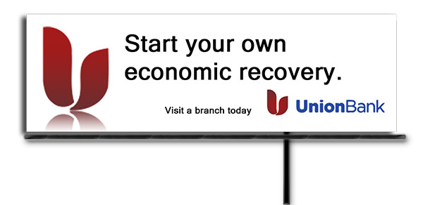 Billboard Design and mockup for Union Bank by DocUmeant Designs