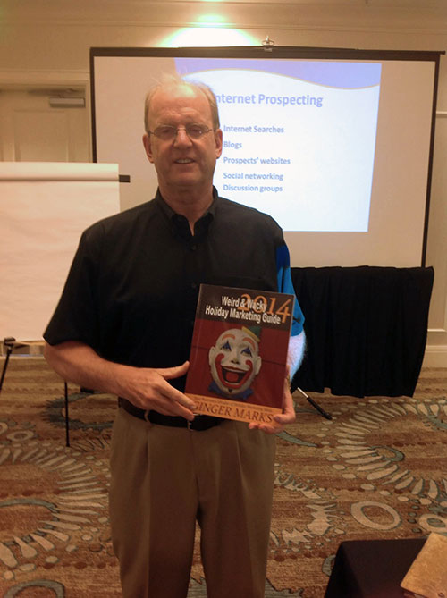 Brian Jud loves Weird & Wacky Holiday Marketing Guide too!
