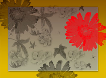 Red Daisy card cover