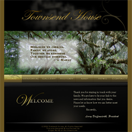 Family Cemetary Website Custom Design by DocUmeant Designs