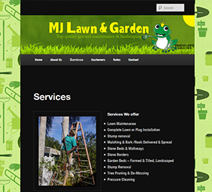 MJ Lawn & Garden Service website
