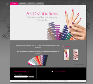 Dry Nail Polish Distribution website custom build by DocUmeant Designs